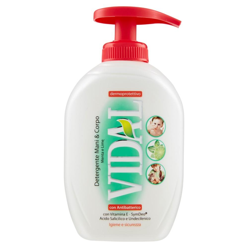 Vidal Detergente Mani & Corpo Menta e Lime con Antibatterico