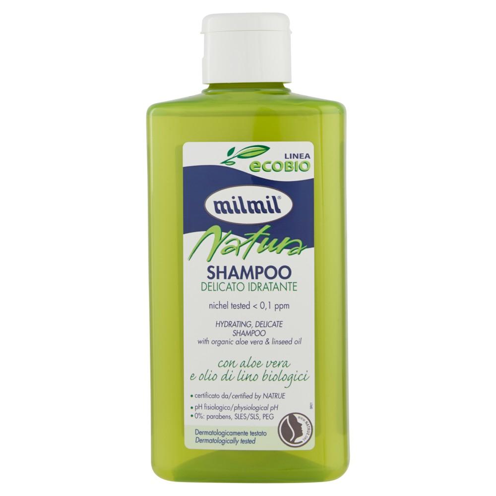 milmil Linea ecobio Natura Shampoo con aloe vera e olio di lino biologici