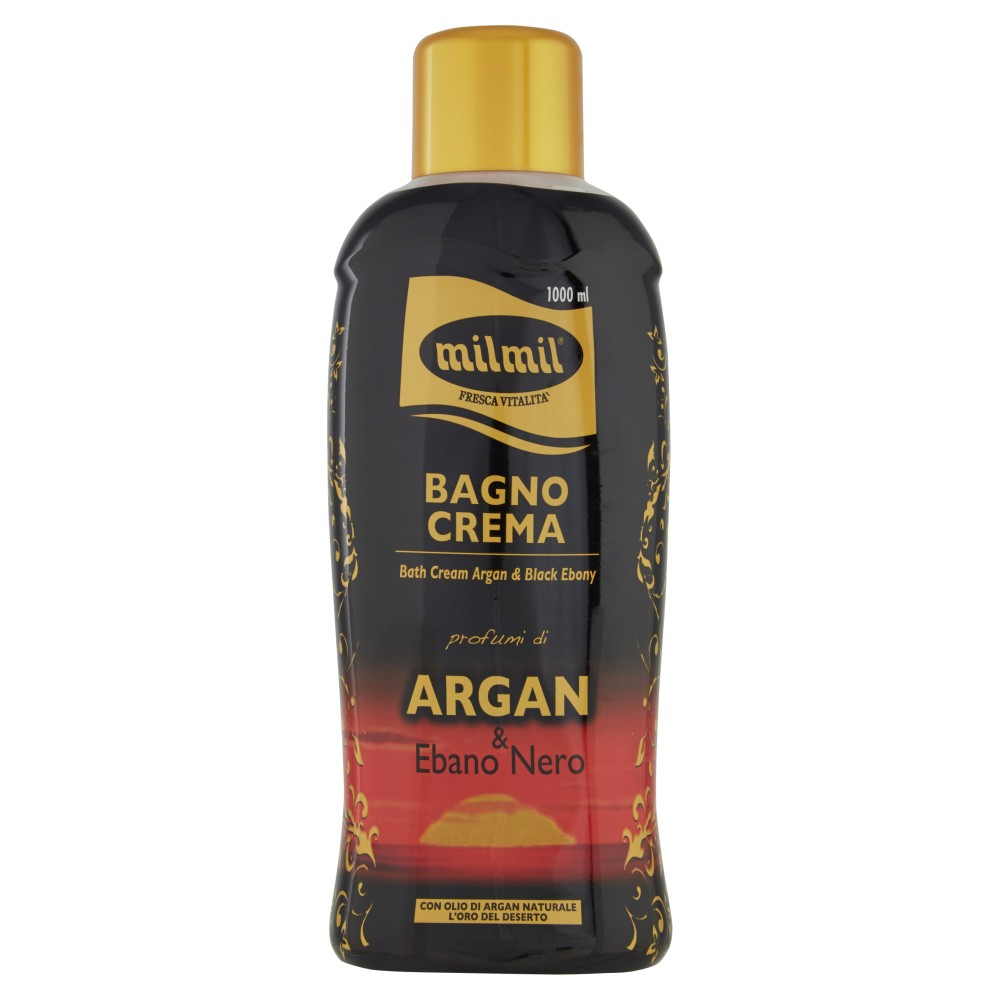 milmil Bagno Crema profumo di Argan & Ebano Nero