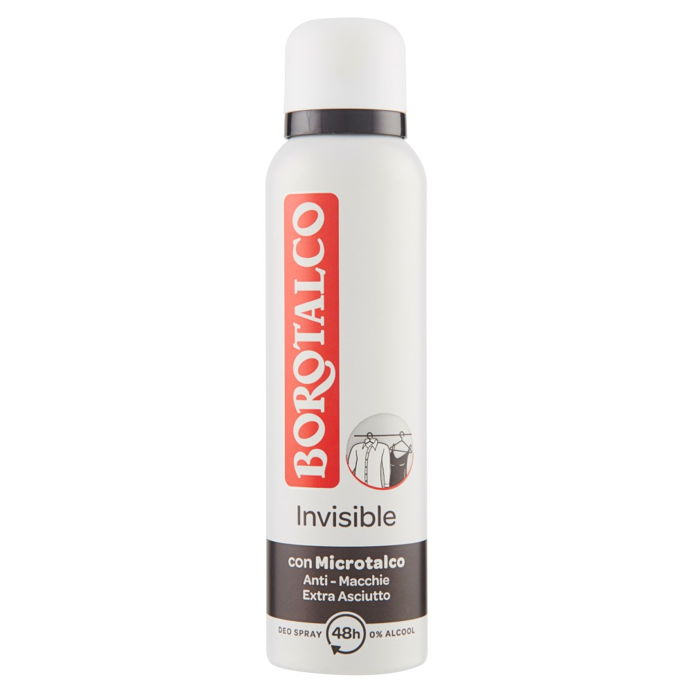 Borotalco Invisible Deo Spray 0% Alcool