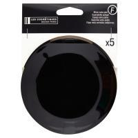 Les Cosmétiques Design Paris Specchietto rotondo nero x5 extra piatto