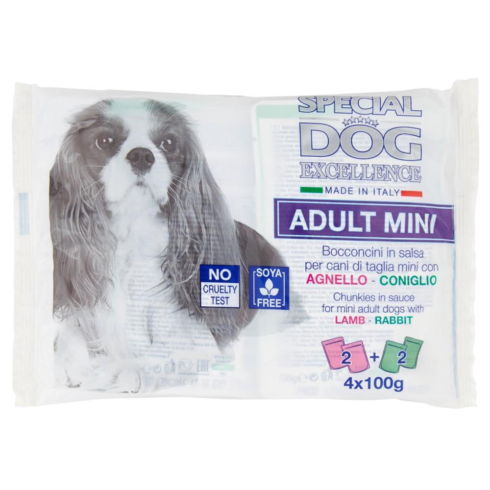 Special Dog Excellence Adult Mini Bocconcini in salsa cani di taglia mini Agnello-Coniglio