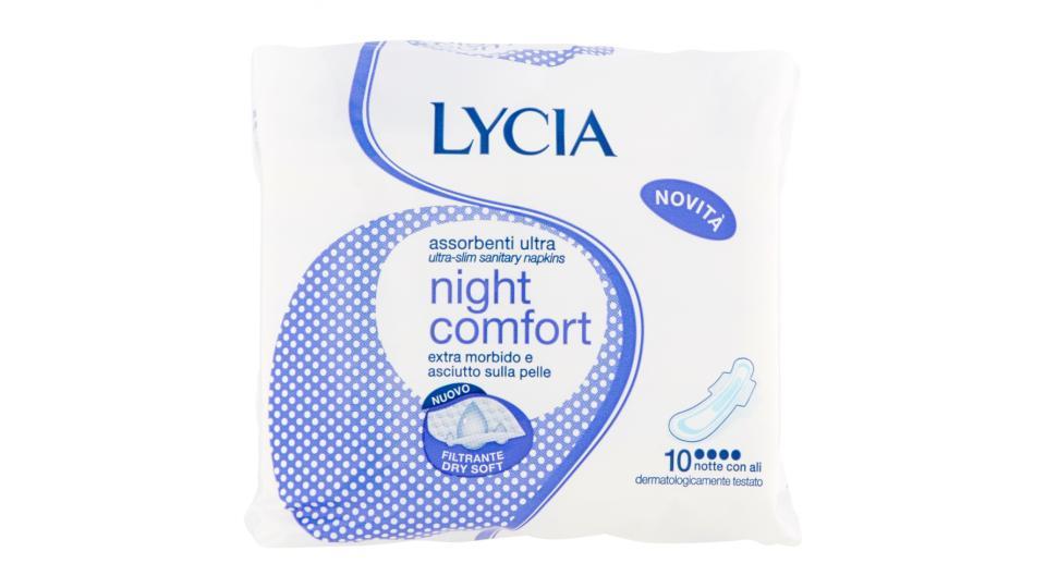 Lycia Assorbenti ultrasottili night comfort notte con ali