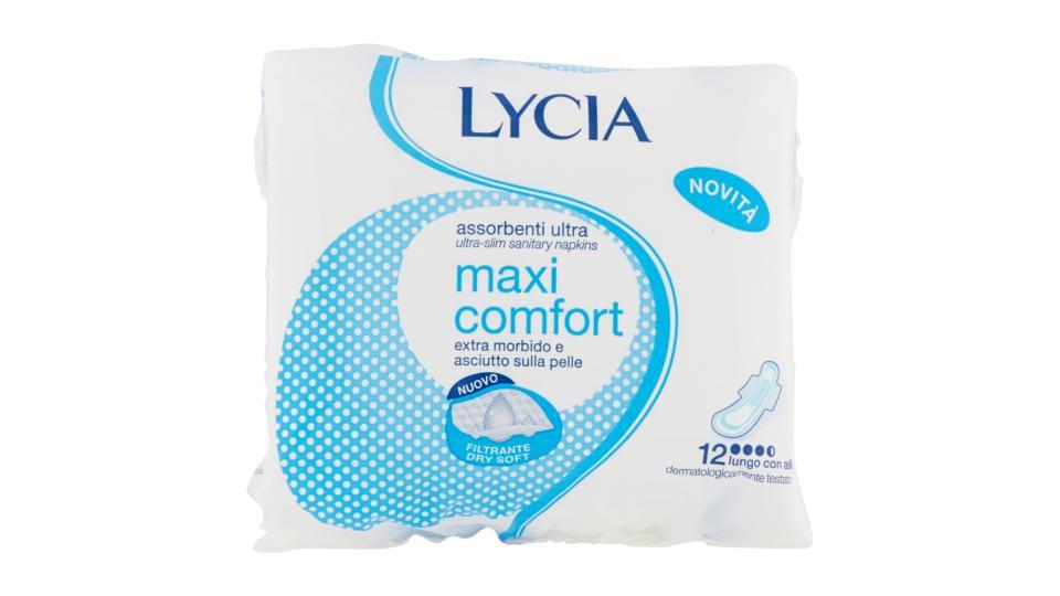 Lycia Assorbenti ultrasottili maxi comfort lungo con ali