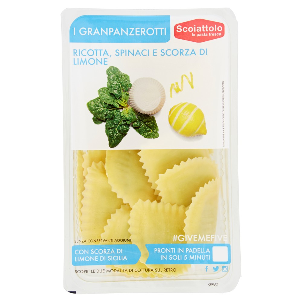 Scoiattolo I Granpanzerotti Ricotta, Spinaci e Scorza di Limone