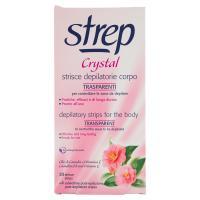 Strep Crystal Strisce depilatorie corpo trasparenti 20 strisce +