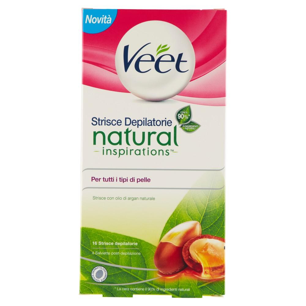 Veet Strisce Depilatorie natural inspirations Per tutti i tipi di pelle