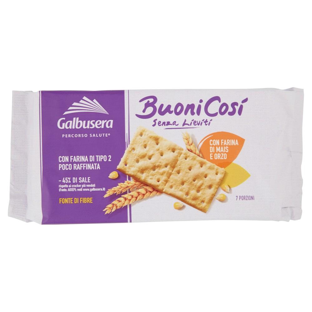 Galbusera Buonicosì Senza Lieviti Cracker Con Farina Di Mais E Orzo