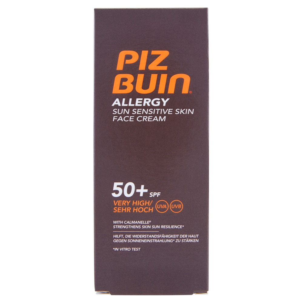 Piz Buin Allergy Sun Sensitive Skin Face Cream Very High 50+ Spf