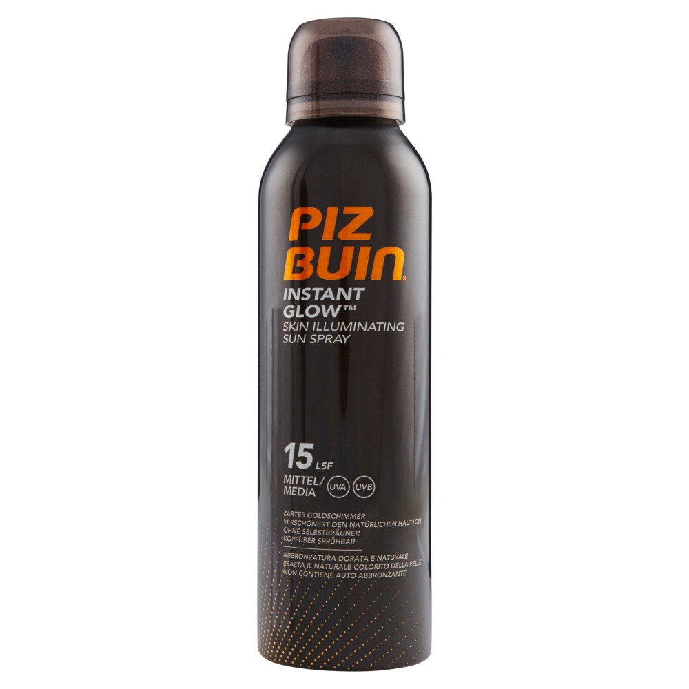 Piz Buin Instant Glow Skin Illuminating Sun Spray 15 Spf Media