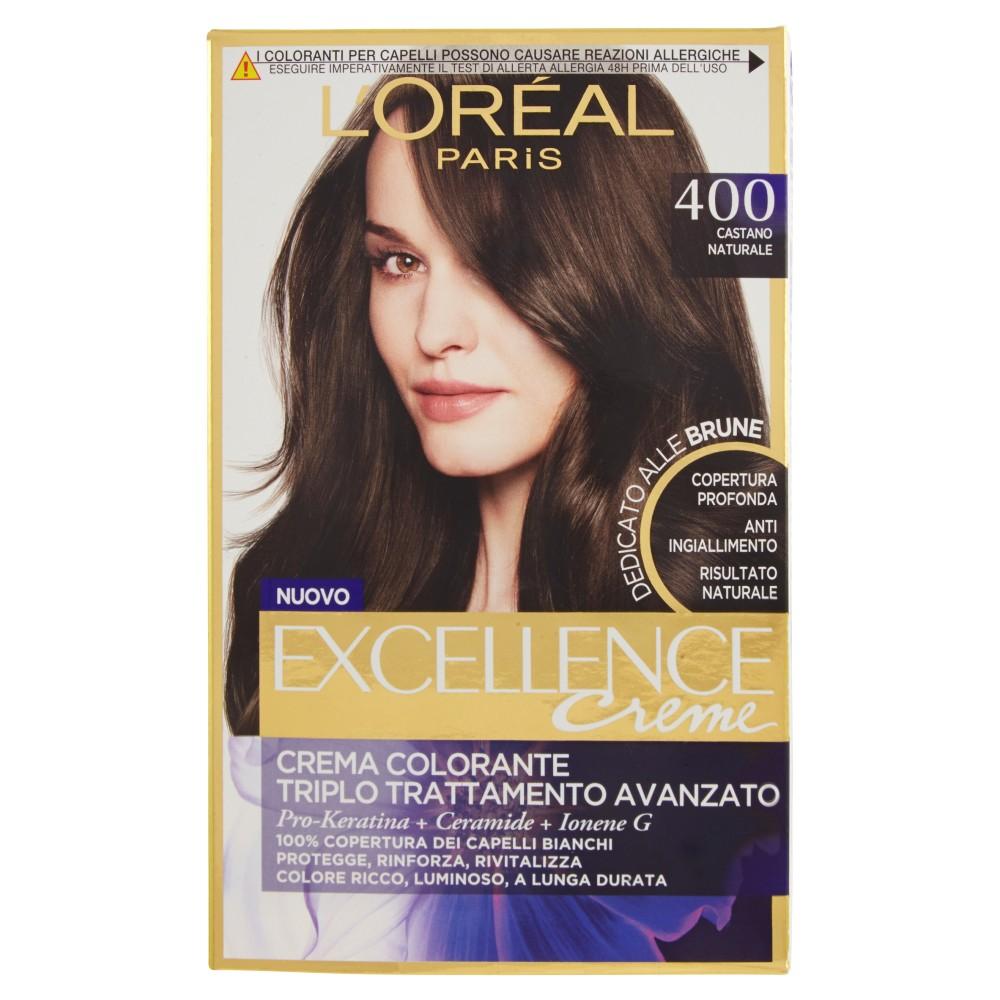 L'Oréal Paris Excellence Créme Dedicato alle Brune Colorazione Permanente, Massima Copertura Capelli