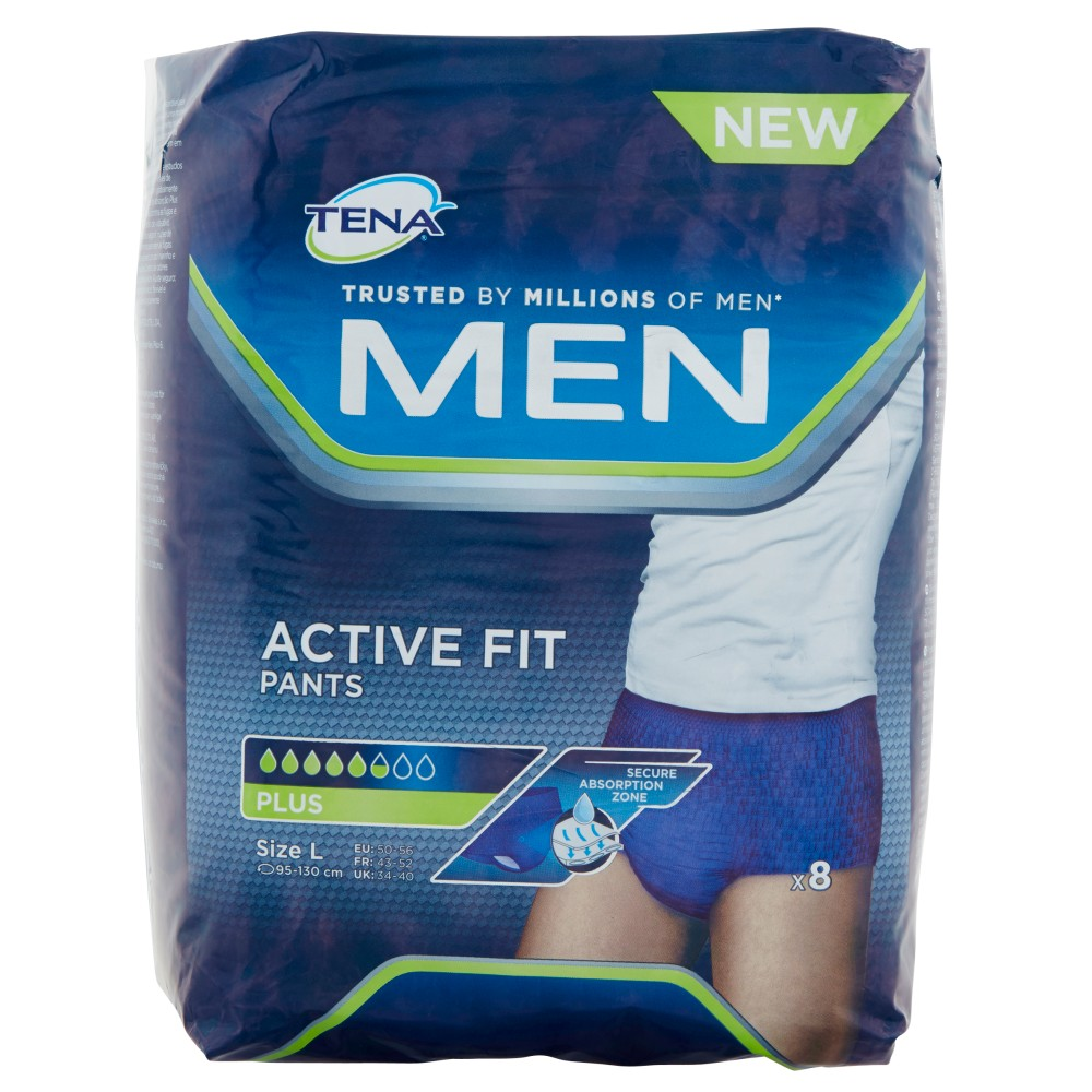 Tena Men Active Fit Pants Plus Size L