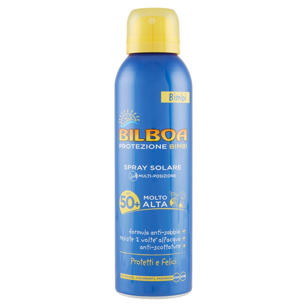 Bilboa Bimbi Spray Solare Multi-posizione SPF 50+ Molto Alta
