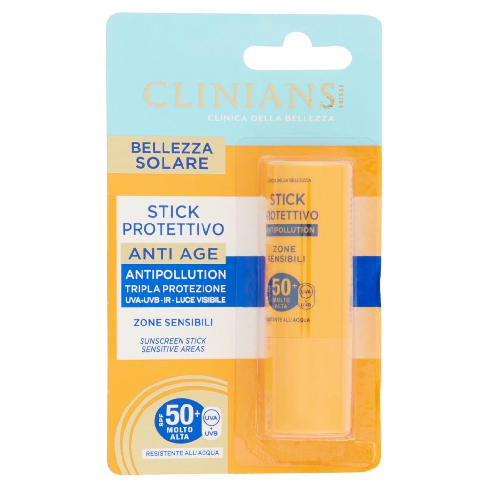 Clinians Bellezza Solare Stick Protettivo Anti Age SPF 50+ Molto Alta
