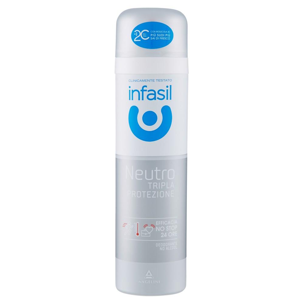 infasil Neutro Tripla Protezione Deodorante Spray