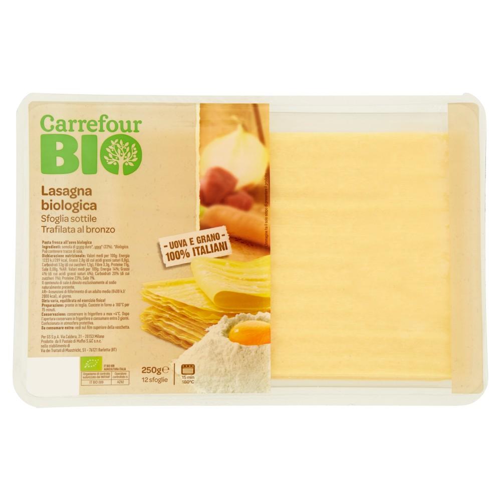 Carrefour Bio Lasagna biologica 12 sfoglie