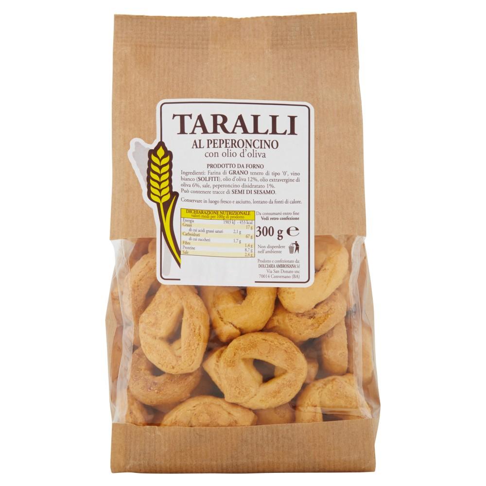 Taralli al Peperoncino con olio d'oliva