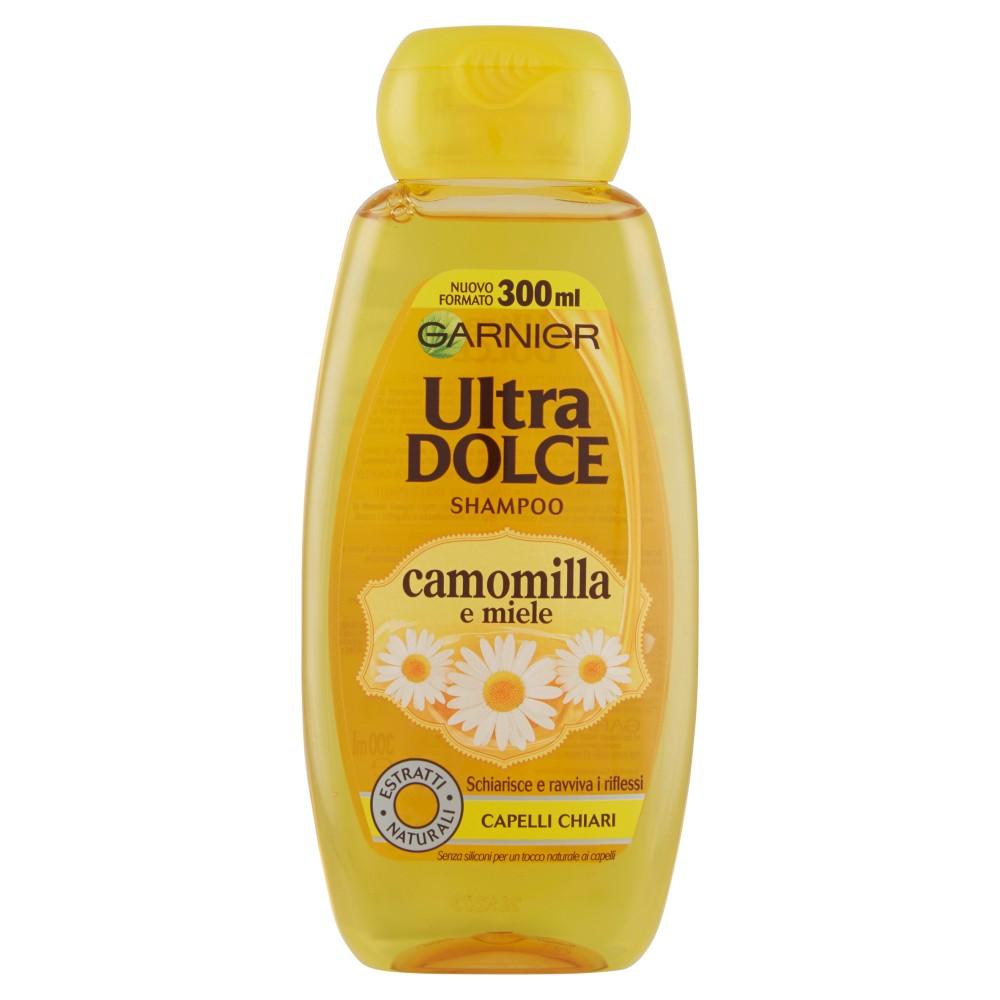 Garnier Ultra Dolce Shampoo all'estratto di Camomilla e Miele capelli chiari, senza parabeni