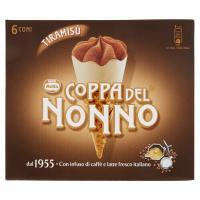 MOTTA COPPA DEL NONNO Tiramisù Cono gelato al Mascarpone e Caffè variegatura al Caffè