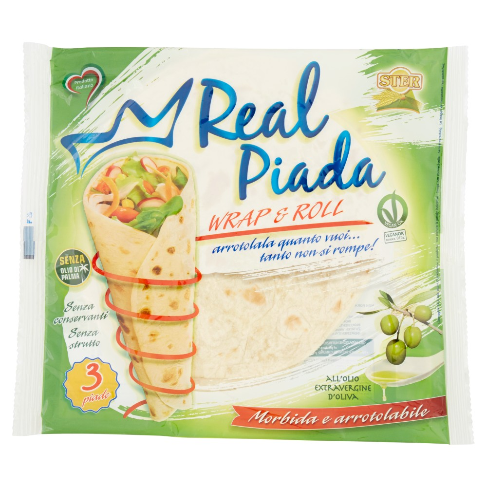 Ster Real Piada Wrap & Roll all'olio extra vergine d'oliva