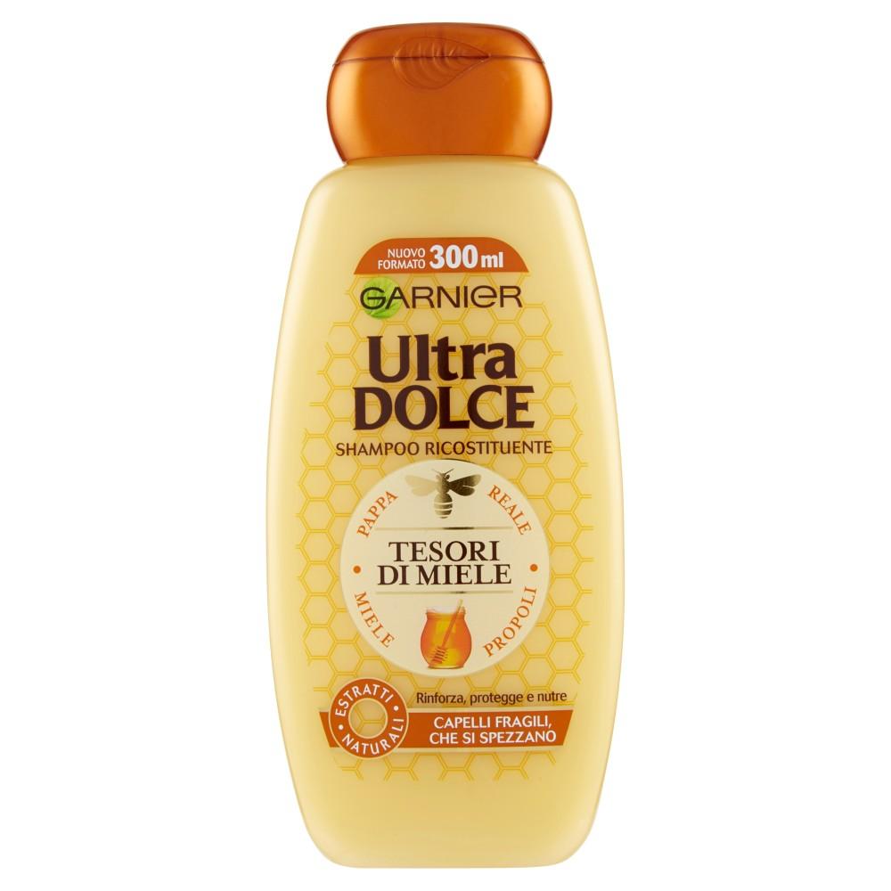 Garnier Ultra Dolce Shampoo Tesori di Miele, con Pappa Reale e Miele Propoli. Senza parabeni