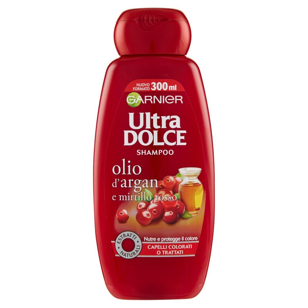 Garnier Ultra Dolce Shampoo all'Olio di Argan e Mirtillo Rosso per capelli colorati