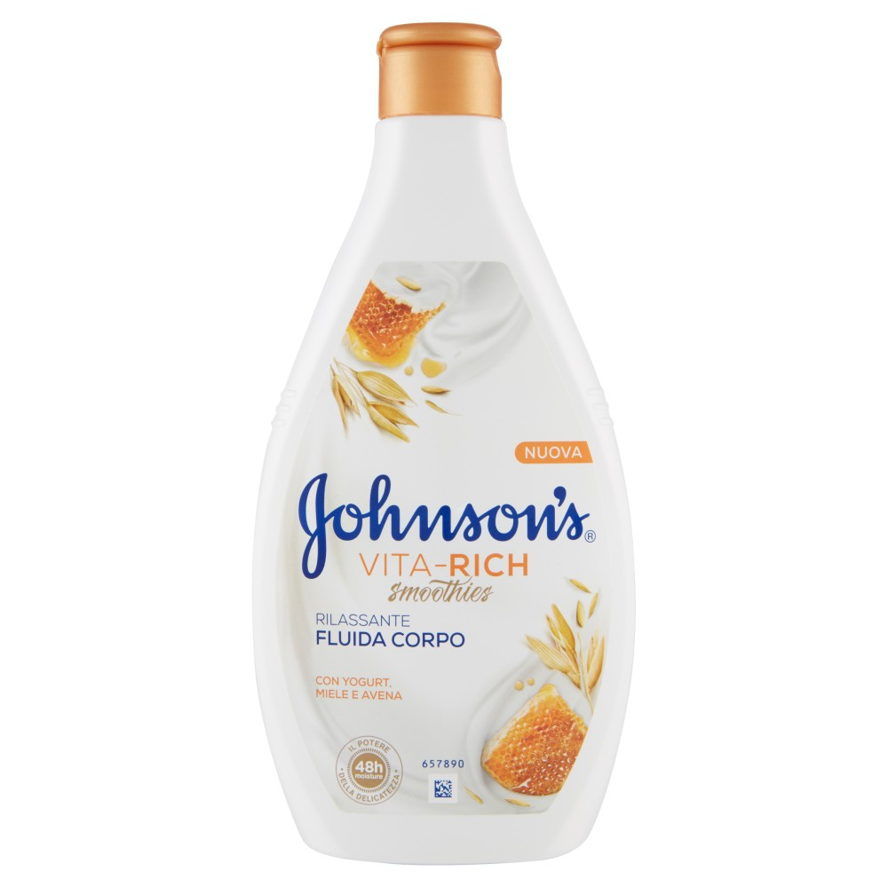 Johnson's Vita-Rich smoothies Fluida Corpo Rilassante con Yogurt, Miele e Avena
