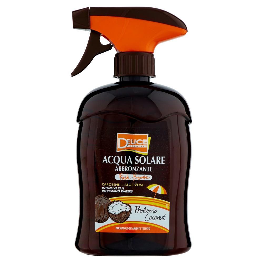 Delice Solaire Acqua Solare Abbronzante Carotene + Aloe Vera Profumo Coconut