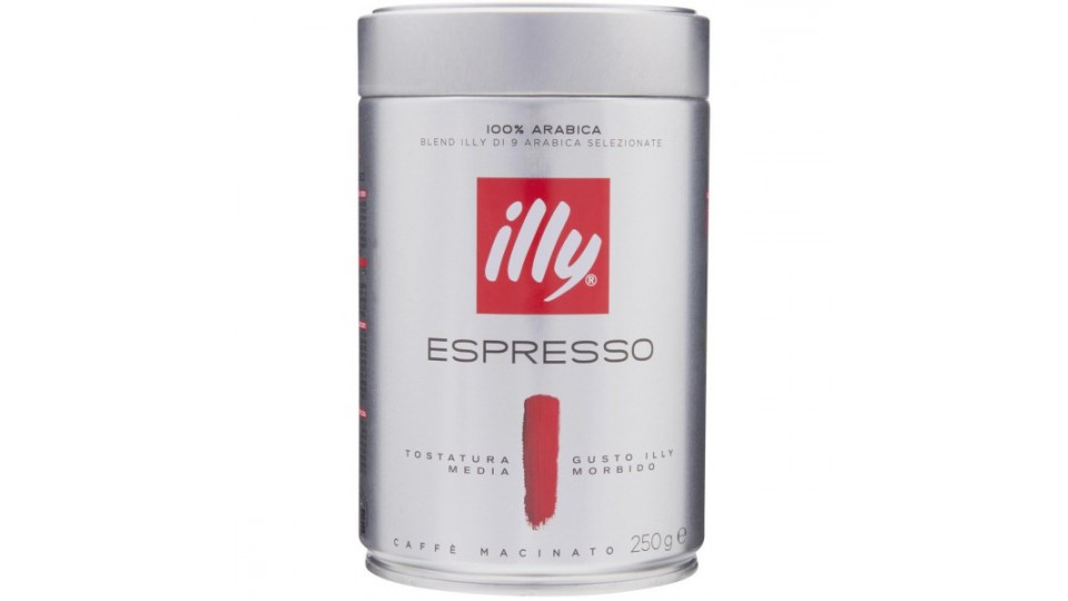Illy caffe rosso tostato macinato