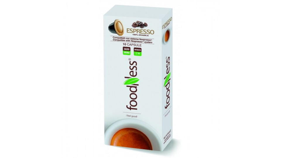 Foodness caffe' nespresso espresso caps
