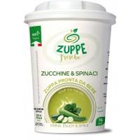 Zuppe fresche zucchine spinaci