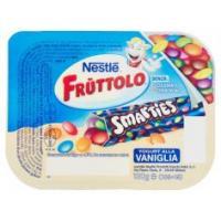 Nestlè, Fruttolo Smarties Yogurt alla vaniglia