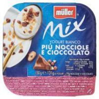 müller Mix Yogurt Bianco Più Nocciole e Cioccolato