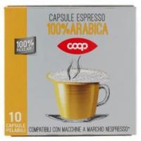 Capsule Espresso 100% Arabica 10 Capsule Pelabili