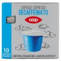 Capsule Espresso Decaffeinato 10 Capsule Pelabili