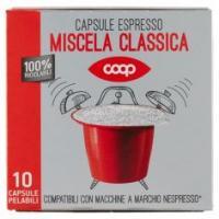 Capsule Espresso Miscela Classica 10 Capsule Pelabili