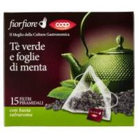 Tè Verde E Foglie Di Menta
