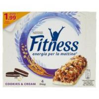 Fitness Cookies&cream Barretta Di Cereali Integrali, Biscotti Al Cacao E Cioccolato Bianco