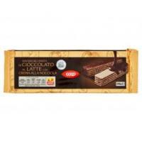 Wafers Ricoperti Di Cioccolato Al Latte Con Crema Alla Nocciola