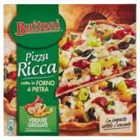 Buitoni Pizza Ricca Verdure Grigliate Pizza Surgelata Con Verdure Grigliate 370g (1 Pizza)