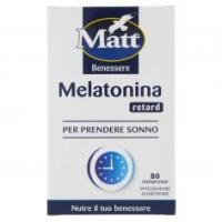 Matt&diet Benessere Melatonina Retard 80 Compresse
