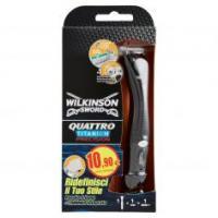 Wilkinson Sword Quattro Titanium Precision Rasoio 4 Lame + Trimmer Integrato
