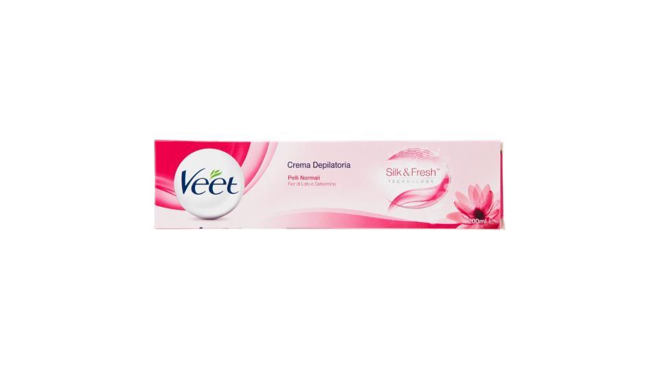 Veet Crema Depilatoria Silk & Fresh Technology Pelli Normali