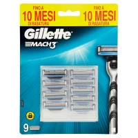 Gillette Mach3 Lame per Rasoio da Uomo