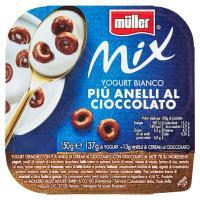 Muller - Mix, Yogurt Bianco Più Anelli al cioccolato
