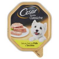 Cesar, cane Ricette Classiche delicato patè con pollo e tacchino