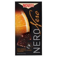 Novi, Nero Nero extra fondente con scorzette di arancia e mandorle 70% cacao
