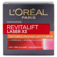 L'Oreal Paris Revitalift Laser X3 Trattamento profondo anti-età, corregge, ridensifica, anti-macchie, SPF 20