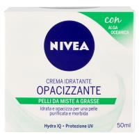 Nivea Aqua Effect Crema idratante opacizzante con Estratti di Alga Oceanica & Hydra IQ, per pelli da miste a grasse