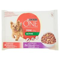 Purina, cane One Mini <10 kg Active bocconcini in salsa con manzo e anatra